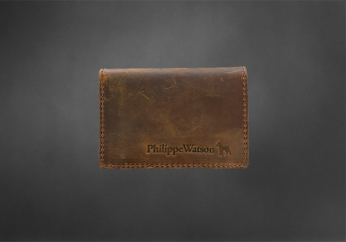 Brown Vintage Leather card holder