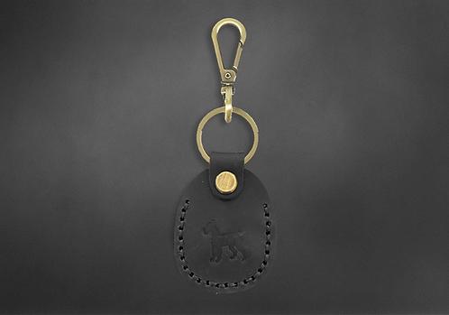 Porte-clés Vintage cuir noir