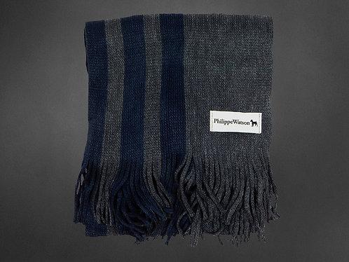 Navy / gray scarf