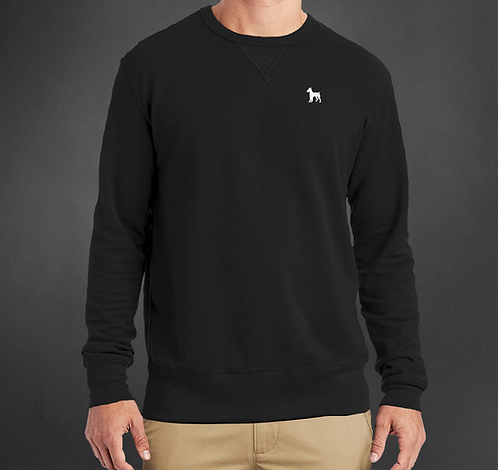 Black crew neck sweater