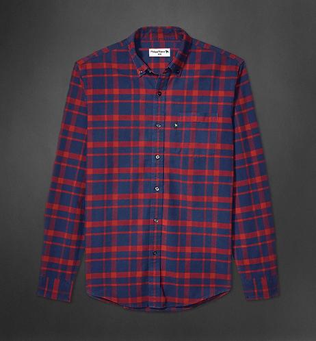 Chemise carreaux rouge et bleu