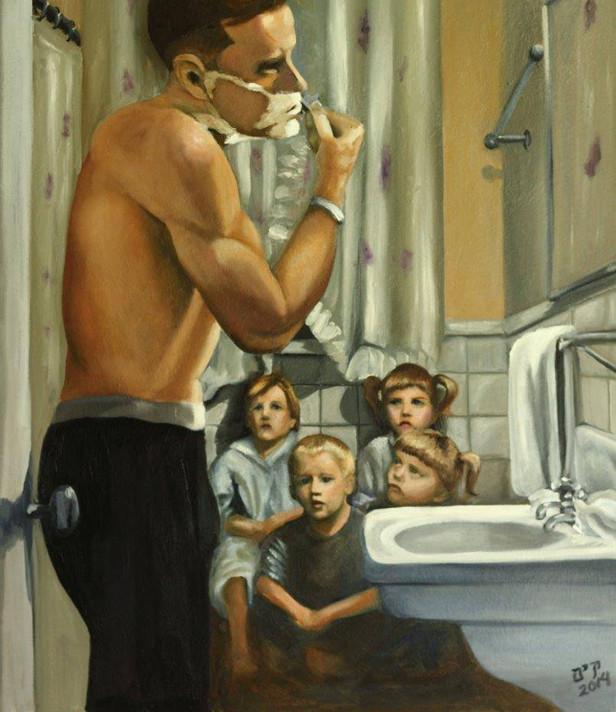 Uncle Frank Shaving