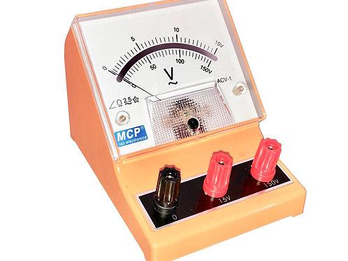 アナログ交流電圧計 ボルトメーター 15V 150V ACV-1