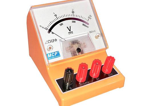 アナログ直流電圧計 ボルトメーター 300mV 3V 30V DCV-2