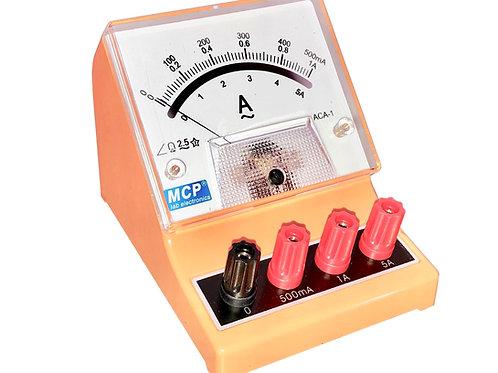アナログ交流電流計 アンペアメーター 500mA 1A 5A ACA-1