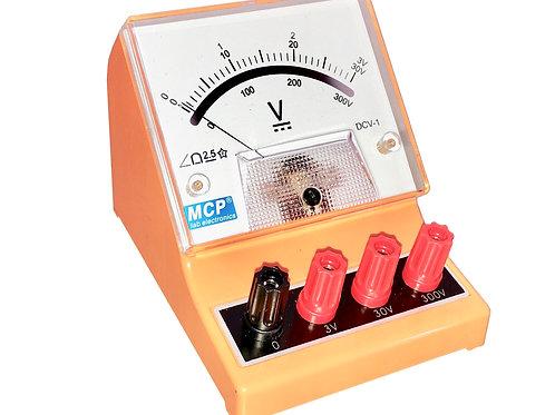 アナログ直流電圧計 ボルトメーター 3V 30V 300V DCV-1