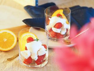 Orange blossom Eton mess recipe