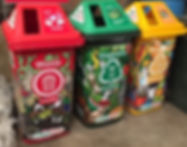 Organic waste and recyclable rubbish bins for zero waste events