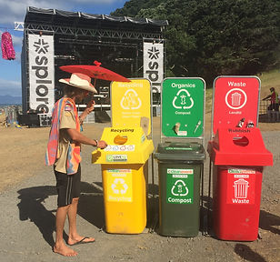 recyling bins for events, organic waste bins for events