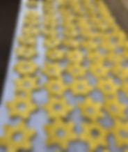 Ceramic daffodils