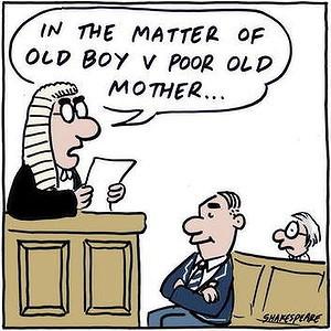Estate Dispute: 'Kings School Old Boy V Poor Old Mother.'
