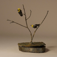 Box with Yellow-Headed Blackbirds (view 2)