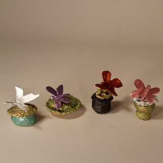 Four Boxes with Butterflies