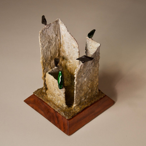 Ruin 14 with Green and Black Birds - view 1
