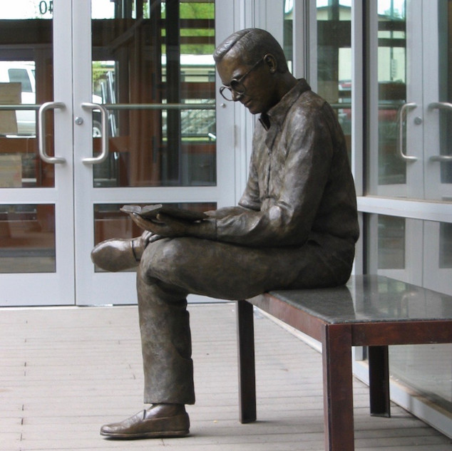 Young Man Reading (view 2)