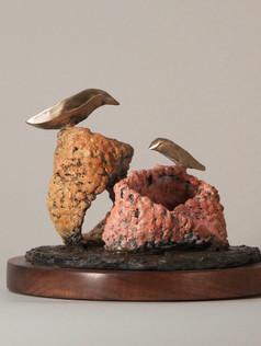 Moebius Pair, Pink and Tan (view 1)