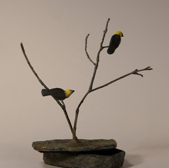 Box with Yellow-Headed Blackbirds (view 1)