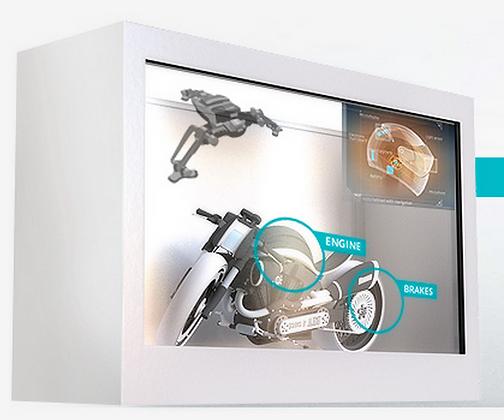 "42"" Transparent LCD Showcase"