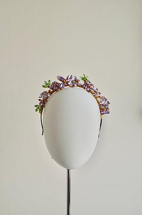 BOTANICA - Lilac Peridot  Crystal Jewel Crown