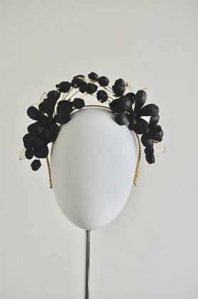 FLORID - Black Leather Headpiece Crown