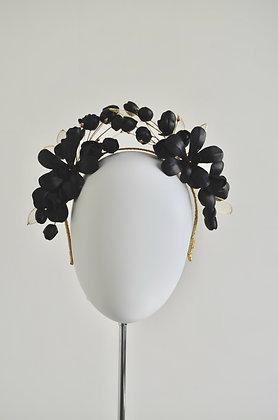 FLORID - Black Leather Headpiece Crown