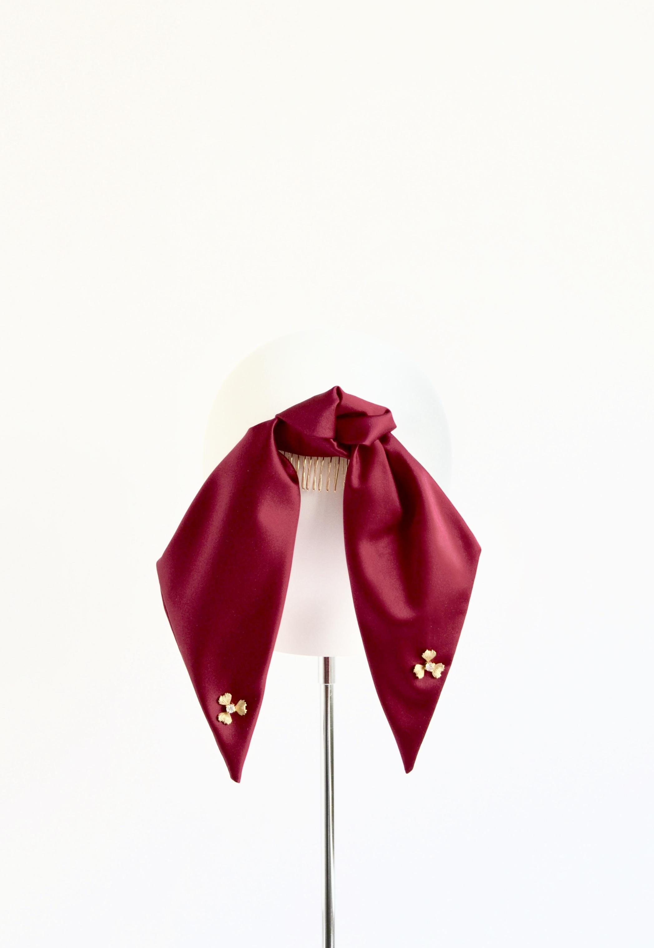 Silk Satin Pony Bow Crimson
