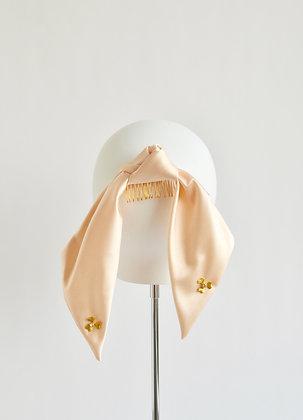 Silk Ponytail Bow - Peach Blush