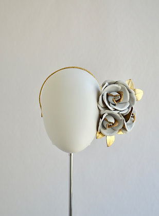 Luxe Rose Side Band - White/Gold