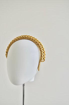 HEPHEA - Matt Gold Metal  Chain Headband