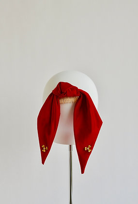 Silk Ponytail Bow - Red