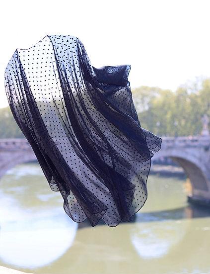 Papillon Wrap - Black Dot