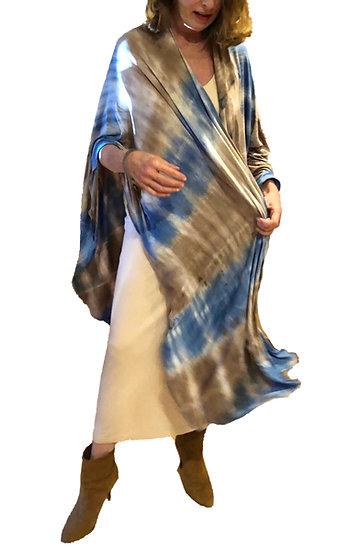 Papillon Wrap - Ocean Blue Tie Dye