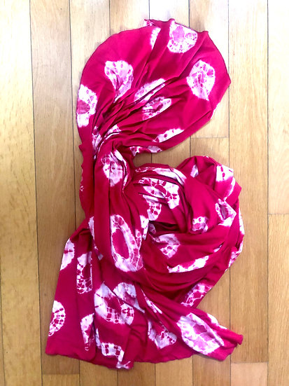 Papillon Wrap - Bamboo Red Tie Dye