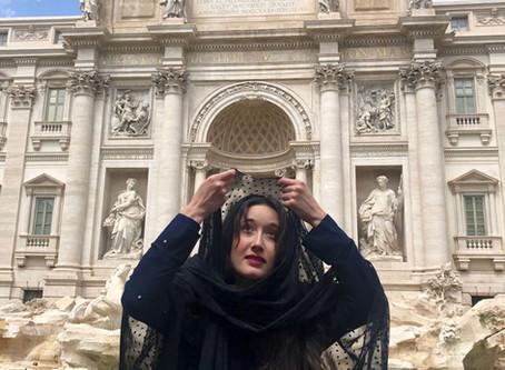 Macarena at Trevi Fountain, Rome Italy