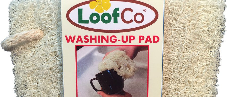 Loofah washing up pad