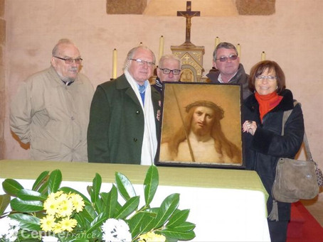Un tableau du Christ a été restauré
