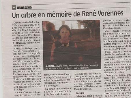 Hérisson rend hommage a René Varennes