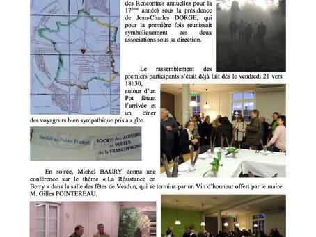 Reportage des rencontres poétiques à Vesdun, les 22 & 23 octobre 2016