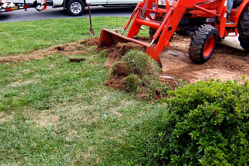 Sod Installation With Grading And Tear Out