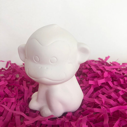 Paint your own ceramic cheeky monkey