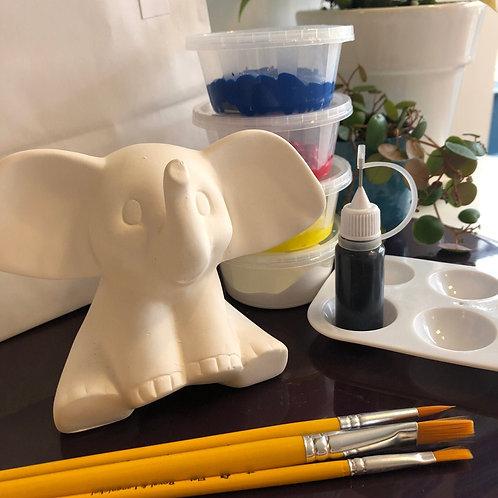 Paint your own ceramic elephant