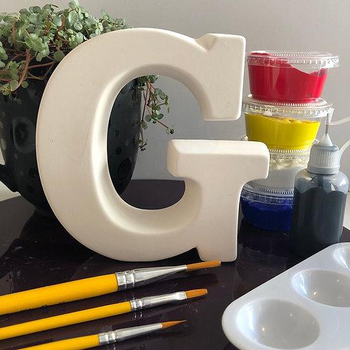 Paint your own Alphabet letter . Letter 'G'