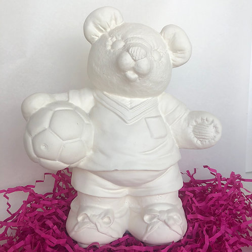 Paint your own  ceramic  Football Bear
