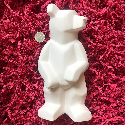 Paint your own  ceramic  Faceted Bear
