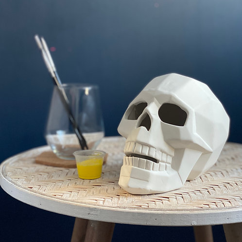 Paint your own  ceramic  Faceted Skull