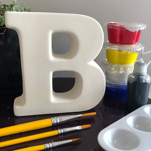 Paint your own Alphabet letter ceramic . Letter 'B'