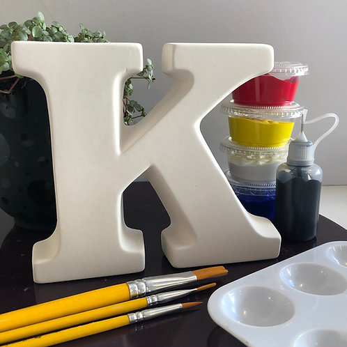 Paint your own Alphabet letter . Letter 'K'