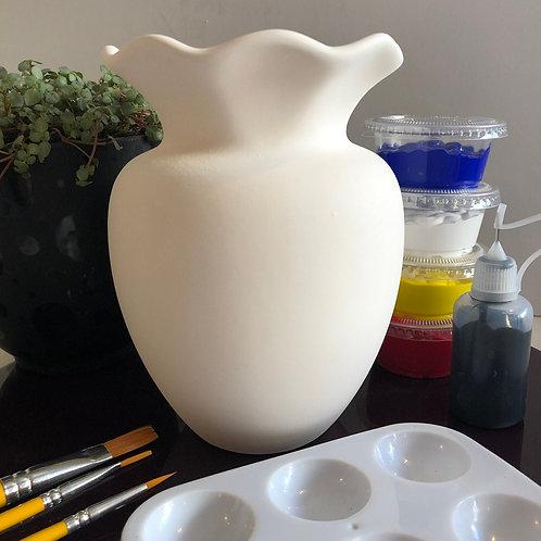 Paint your own Vase box ceramic - Shape 2