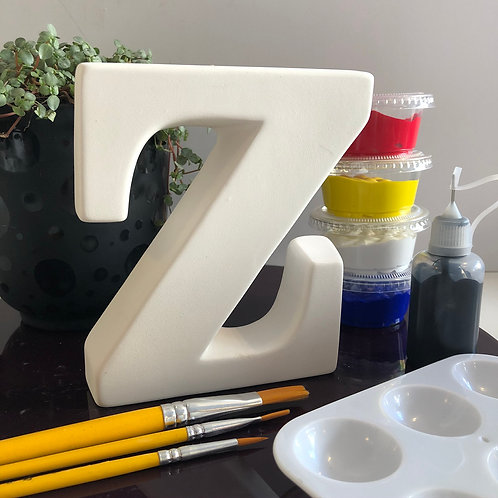 Paint your own Alphabet letter . Letter 'Z'
