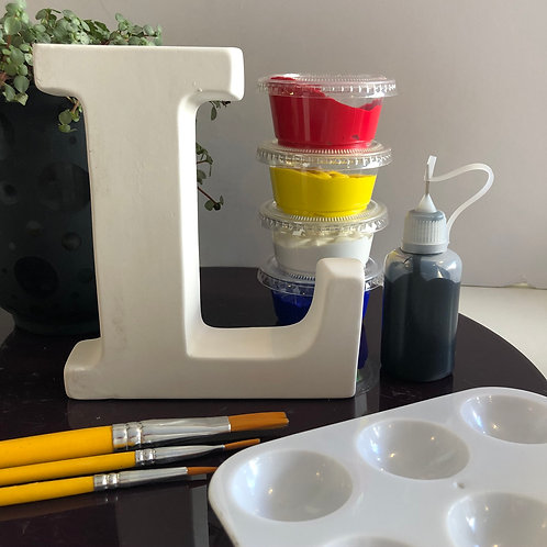 Paint your own Alphabet letter kit. Letter 'L'